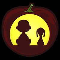 Charlie Brown and Snoopy - Pumpkin Stencil
