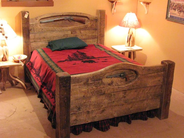 1000 images about barnwood beds on pinterest harvest for Western style beds