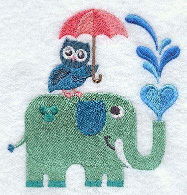 Umbrella Party - Owl and Elephant - H2772 - H2773