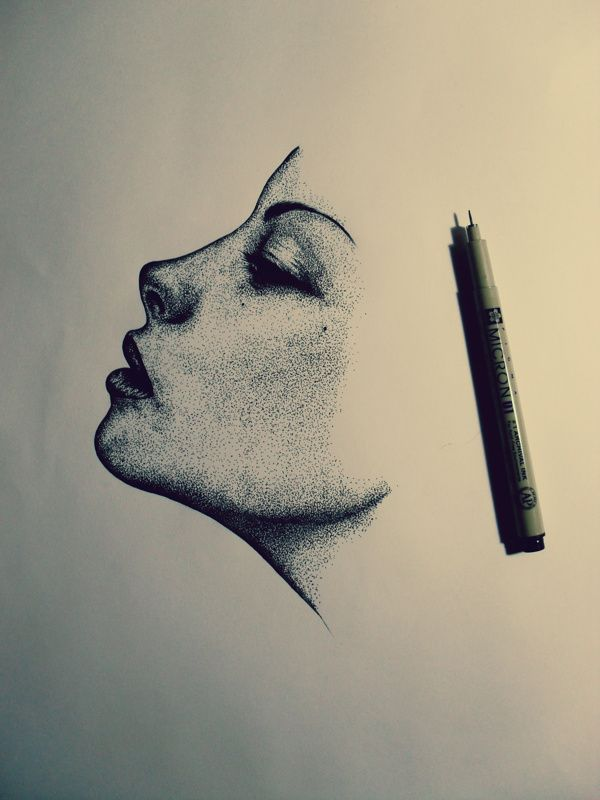 25 best ideas about side face drawing on pinterest btec for Cool easy pen drawings