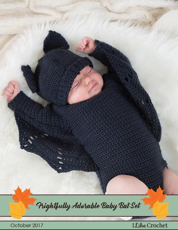 Crochet a baby's first halloween costume using this pattern from I Like Crochet magazine!