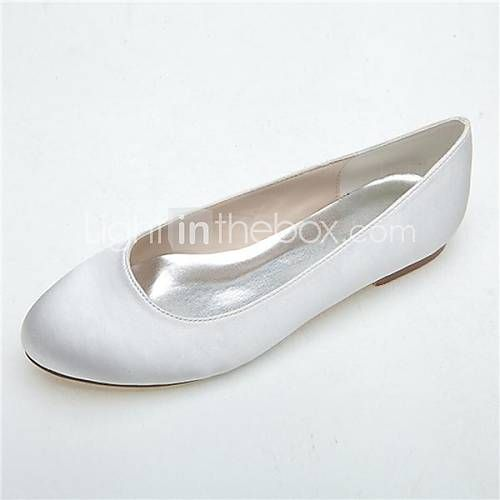 Wedding Shoes For Women Round Toe Flats Wedding Casual Party Evening Black Blue Pink Purple Ivory Silver