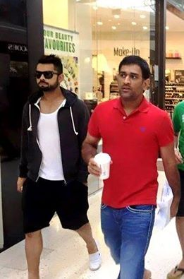 Spotted! The Captain and The Vice Captain! Coffee Buddies, Virat with MS Dhoni