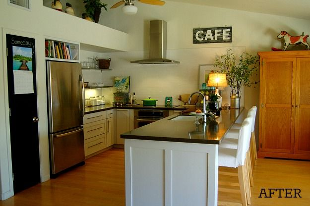 I know this isn't really fancy, but I absolutely LOVE this kitchen make over.  It feels like home!  Love it!