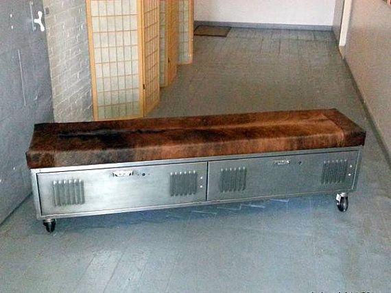 Hey, I found this really awesome Etsy listing at https://www.etsy.com/listing/178749016/vintage-steel-locker-storage-bench