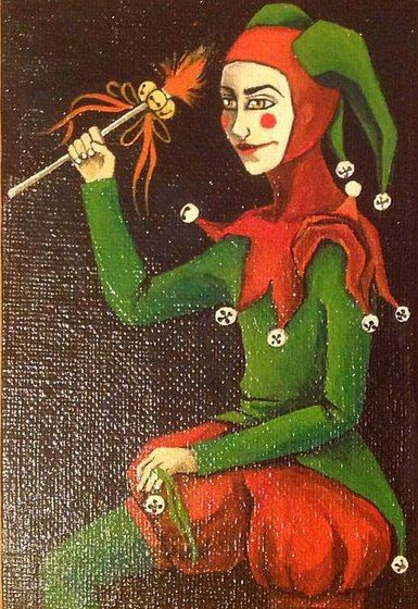 Jester. acrylic on canvas.