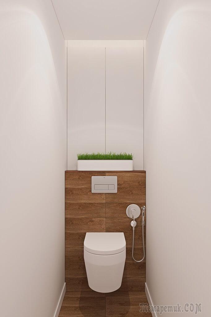 Лаконичный и функциональный минимализм с элементами эко-стиля в интерьере квартиры на Рублевском шоссе