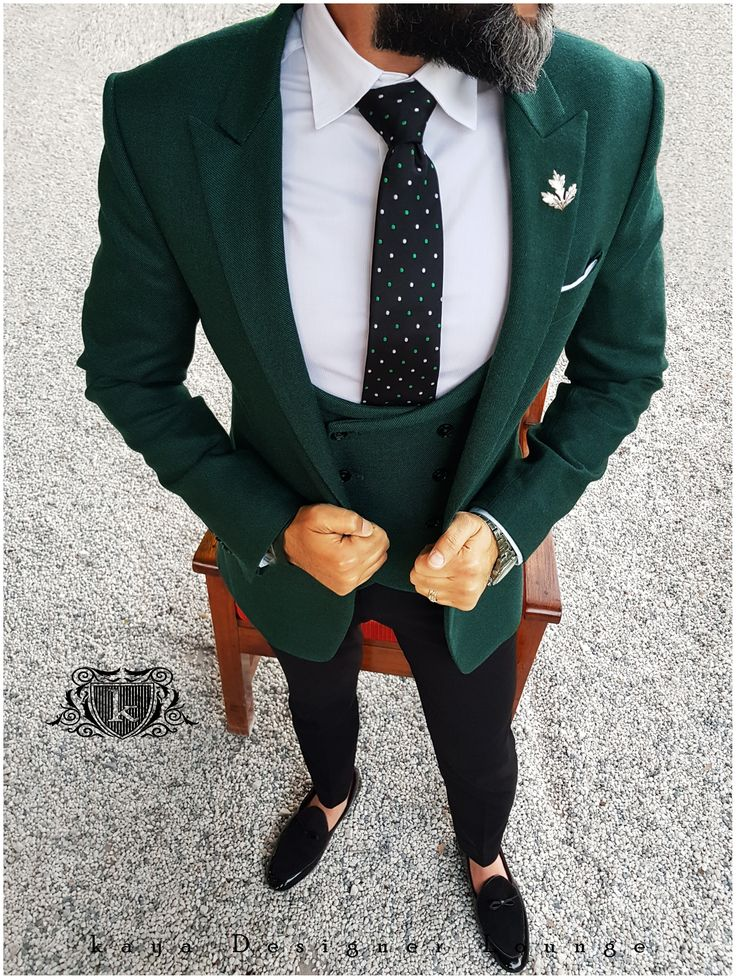 Cocktail Outfit Green Suit Patent Suede Loafers Loafers