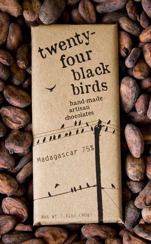 packaging / 24 black birds - chocolate