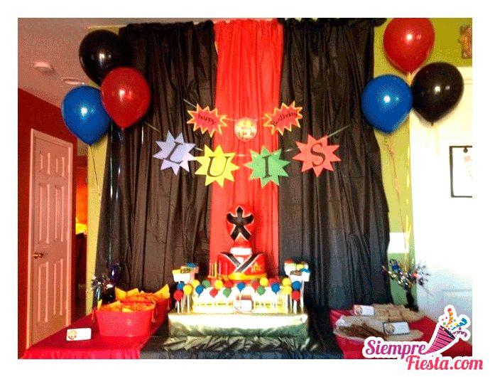Incre bles ideas una fiesta de cumplea os de los power - Ideas para fiestas de cumpleanos infantiles ...