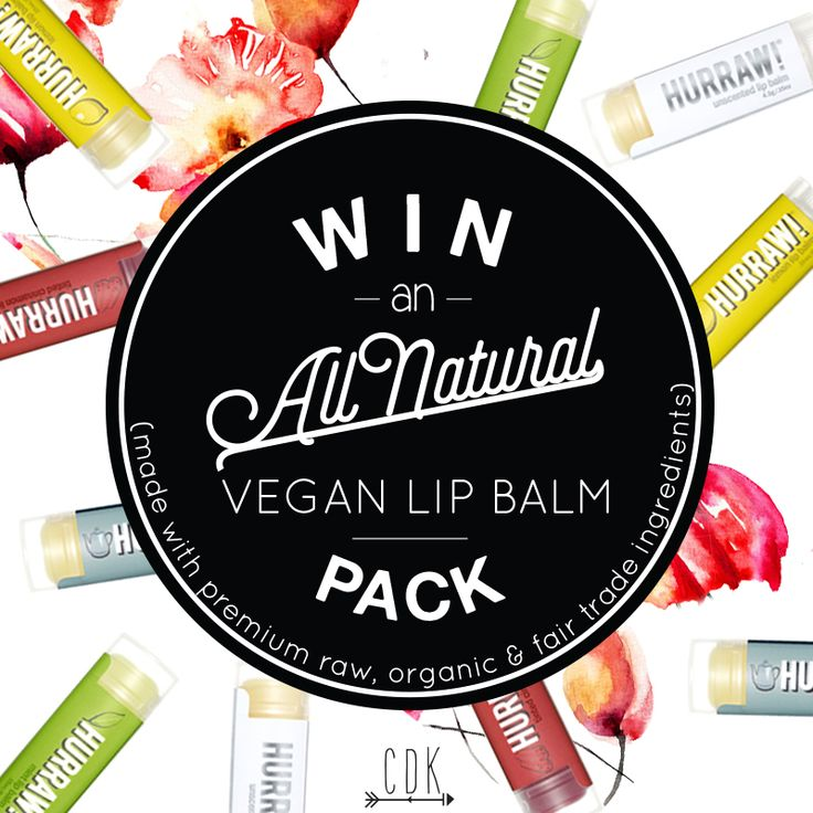 WIN a pack of the raw, organic and fair trade HURRAW! Lip Balms
