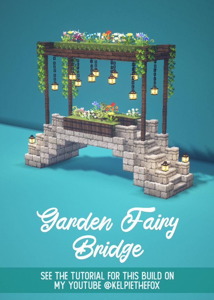 Minecraft Fairy Garden Bridge 🍄🌿 Magical Fairy Tail ...