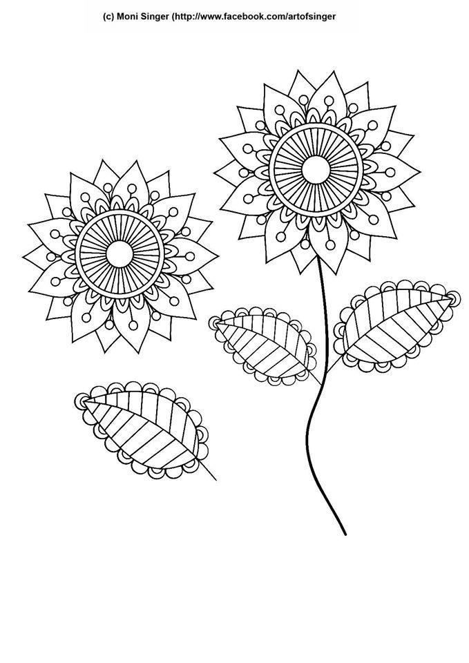 Silhouette plotter file free, Plotter Datei kostenlos, plotter freebie, flower, Blume, doodles, doodle