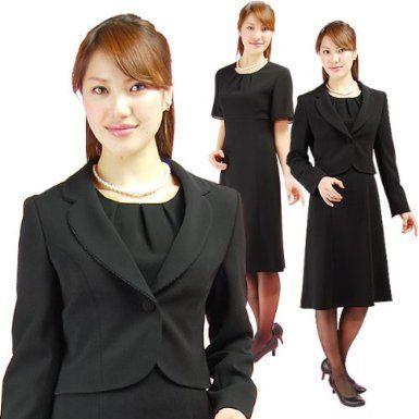 Amazon.co.jp: レディース 喪服 ブラックフォーマル 2点セット スーツ 112966143ba: 服&ファッション小物