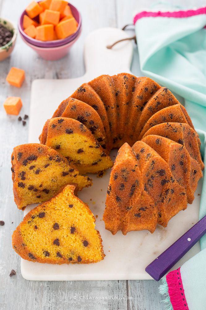 Torta di zucca e cioccolato - (senza burro con zucca cruda) pumpkin cake, bundt cake Chiarapassion