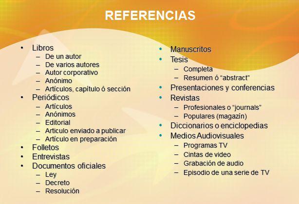 Referencias de Normas APA
