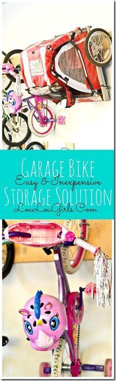 DIY Inexpensive Garage Bike Storage Solution