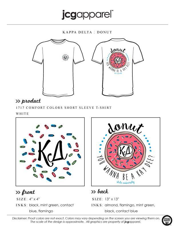 JCG Apparel : Custom Printed Apparel : Kappa Delta Donut T-Shirt #kd #kappadelta #donut