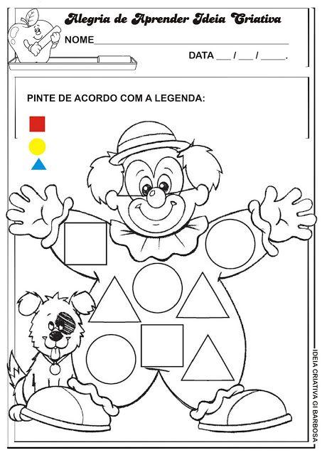 Atividade Formas Geométricas / Projeto Circo | Ideia Criativa - Gi Barbosa Educação Infantil