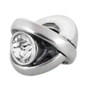 Avedon Polished Sterling Silver Design with Clear Crystal Slide Charm Amazon Curated Collection. Save 51 Off!. $39.00. Compatible with major add-a-bead jewelry lines.. Made in  Italy