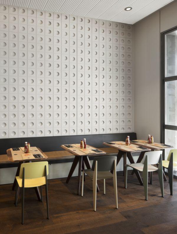 Espíritu de 'diner' en el centro de Madrid: New York Burger, de Isabel López Vilalta. | diariodesign.com