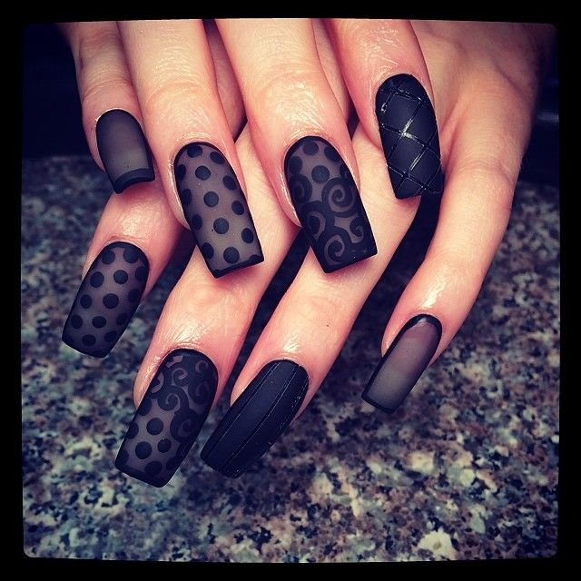 sheer black!!! I'm so in love with this look. You will see more of this trend from me!!! #naillove #nailartaddicts #newtr...