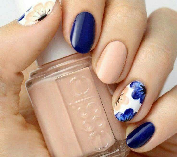 49 best nail images on pinterest makeup nail design and 55 seasonal fall nail art designs a wonderful combination of matte royal blue and nude polish will fresh fall flowers atop a matte white base prinsesfo Choice Image