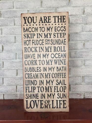 "Large Rustic Wood Sign - ""You Are..."" Fixer Upper, HGTV, DIY, Primitive, Wedding"