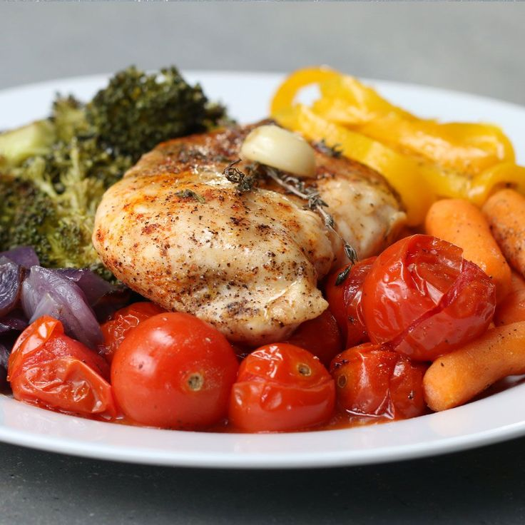 Foil Pack Rainbow Chicken And Vegetables   – Chicken recipes