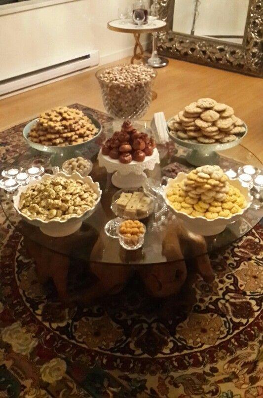 سال 1394    عید   شما  مبارک  Happy persian/Iranian new year - home made pastries and cookies for EIDNorouz - T.Tavakoli.(:  V