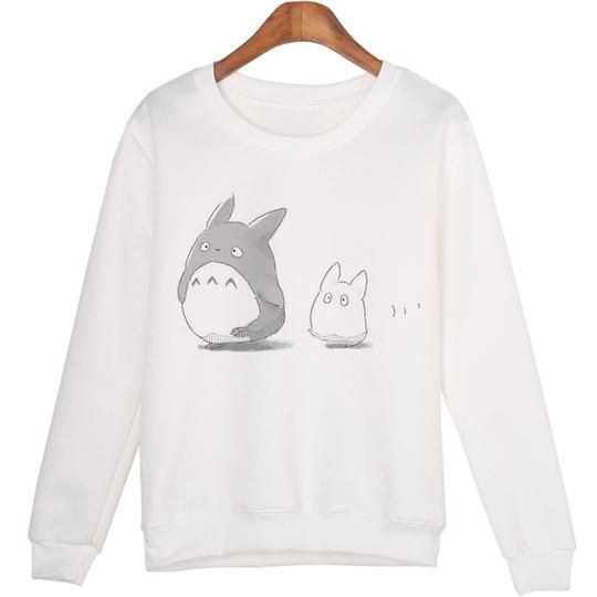 White Plus Size XL Winter Fashion Hoodies Cartoon Kawaii 2015 Sweatshirts Comfortable Pullovers Students Clothing WMH38 2