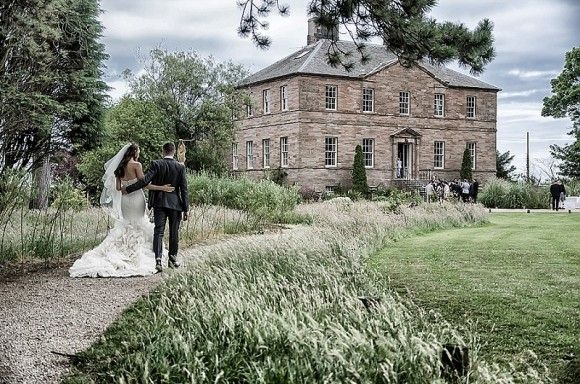 Vera Wang for a stylish wedding at Newton Hall
