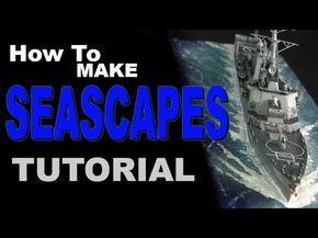 (9) How To Make Seascape scale model diorama tutorial - YouTube