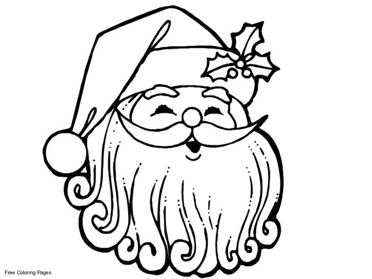 coloring page santa face - 60 best santa images on pinterest christmas crafts