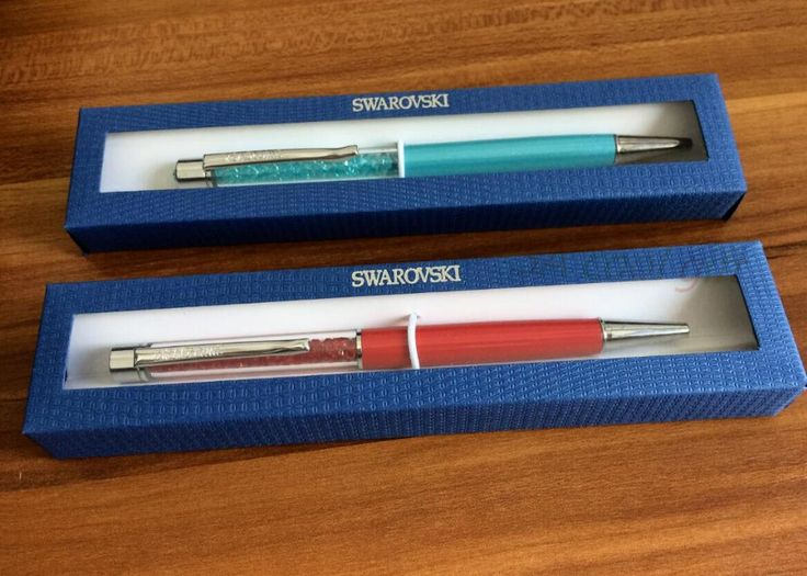 Best gift  Swarovski pen Crystal ballpoint pen with gift logo box case swarovski elements crystal pen For wedding promotion Ad