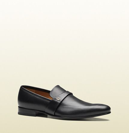 Black Leather Loafers by Gucci. Buy for $595 from Gucci