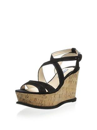65% OFF Prada Women's Wedge Sandal (Black)