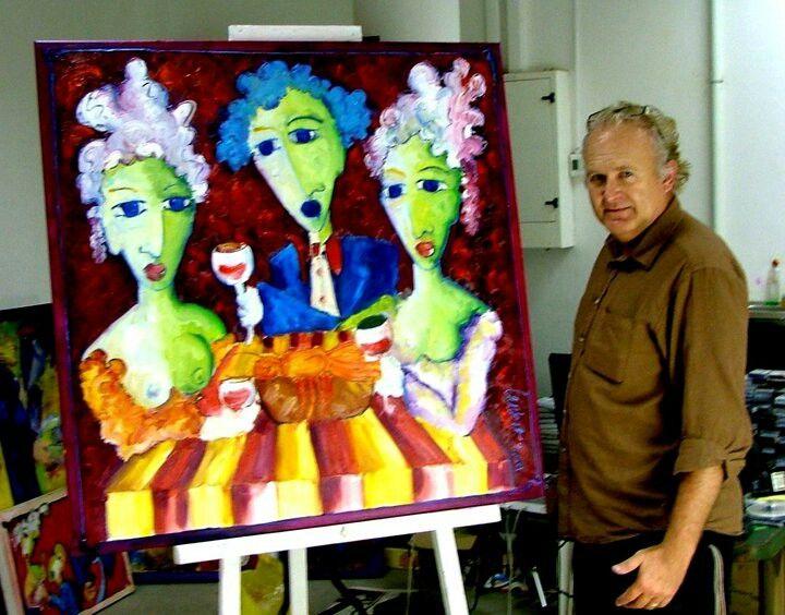 Artist Laurens Barnard (laubar)   www.laurensbarnard.com #art #sexyart #artist #painting #gallery #southafrican