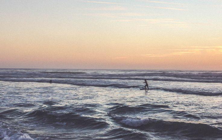 Seignosse beach France travel ocean sunset surf