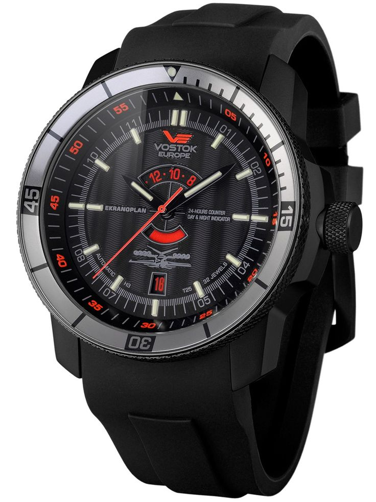 Vostok europe ekranoplan mens automatic watch 5454108 men watches pinterest automatic for Vostok europe watches