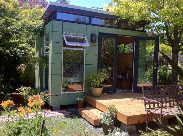 1000 ideas about living in a shed on pinterest a shed for Prefab work shed