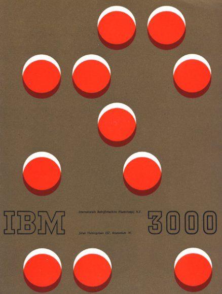 IBM 3000 Brochure, Designed by Wim Crouwel, 1960