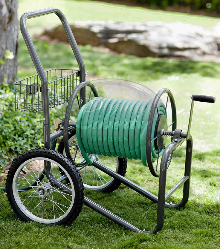 Made with all #brass & #galvanized fixtures, a durable powder coat finish, and uses knobby spoke tires, the model 880 two wheel hose cart is great for residential, light Industrial/ commercial grade hose reel storage needs!