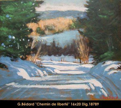 Original mixed media painting on canevas by Gilles Bedard #GillesBedard #artist #art #mixmediapainting #artist #originalpainting #fineart #canadianartist #quebecartist #winter #road #shadows #light #multiart #balcondart