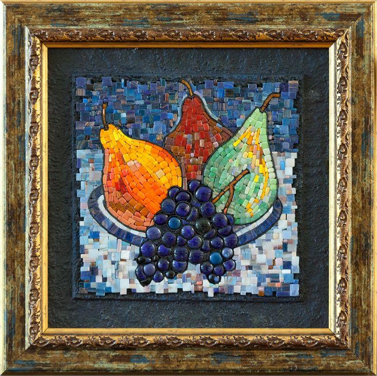Mosaic.Груши и виноград