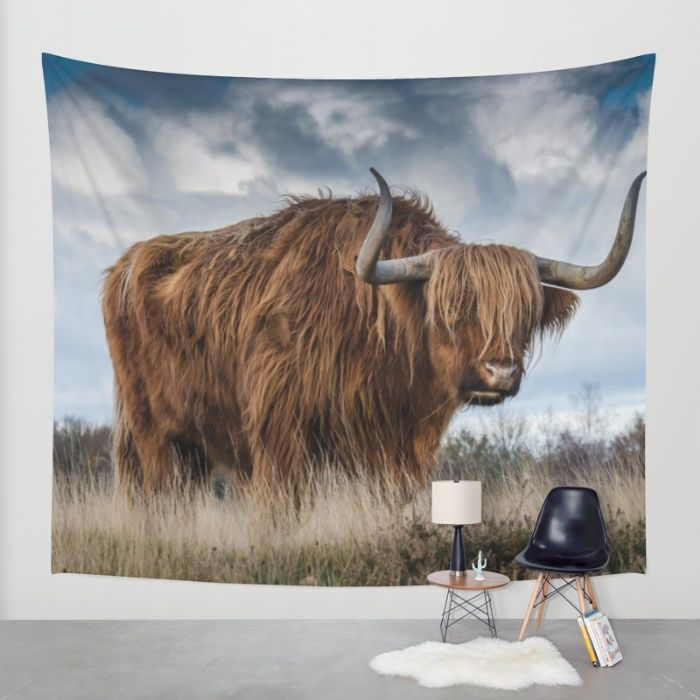 Highlander Wall Tapestry by Mixed Imagery   Society6