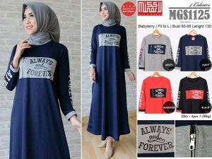 Baju Gamis Muslim Lengkap: grosir busana nusantara MGS1125