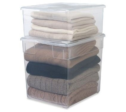 $5.99 Sweater Storage   Container Store