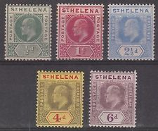 ST HELENA 1902 KEVII 1/2D TO 6D