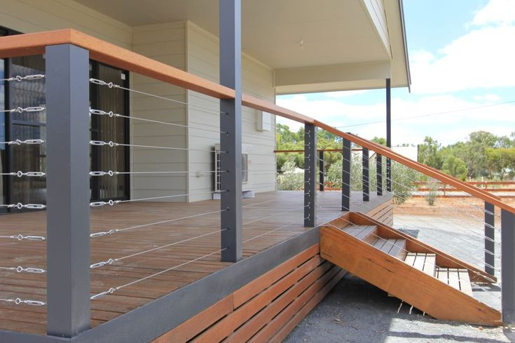 Timber deck with stainless wires. Shanes Stainless. www.shanesstainless.com.au